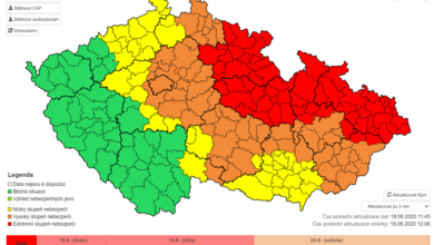 Photo of ČHMÚ vyhlásil vysoký stupeň nebezpečí i pro Neratovice v souvislosti s prudkými dešti