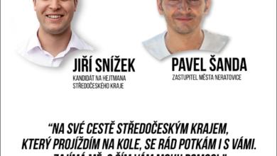 Photo of Lídr pirátské krajské kandidátky Jiří Snížek objede na kole okres Mělník a setká se s občany 20 obcí