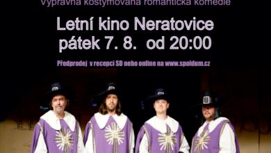 Photo of Letní kino v pátek uvede muzikál Tři mušketýři aneb co už Dumas nenapsal